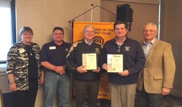 Highland Optimist Club receives Distinguished Club Award for 2014-15 at District Conference in Deerfield Pictured from left: Assistant Governors Barb Reich and Mark Cappel, Highland Optimist Treasurer Bill Wagner, Highland Optimist 2014- 15 President Kevin Hemann, and District Governor Steve Turner